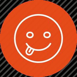 emoticon, tongue icon
