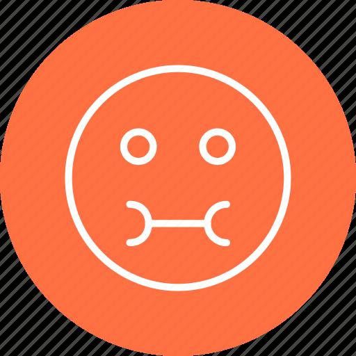 emoticon, face, sick icon
