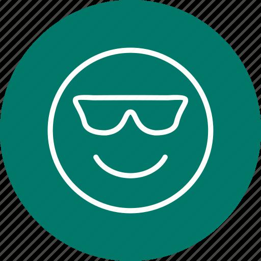 cool, emoji, emoticon, face icon