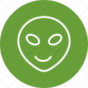 alien, emoji, emoticon, face icon