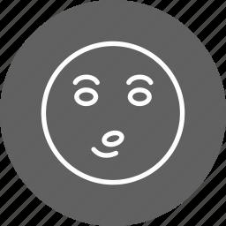 emoticon, face, whistle icon
