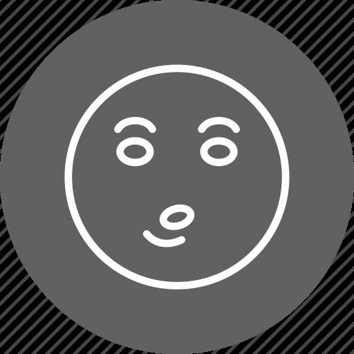 emoji, emoticon, whistle icon