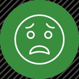 emoticon, face, scared icon