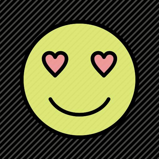 emoticon, love, smiley icon