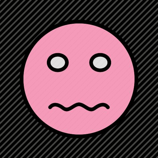 emoticon, face, nervous, smiley icon