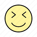 emoticon, face, smiley, wink icon