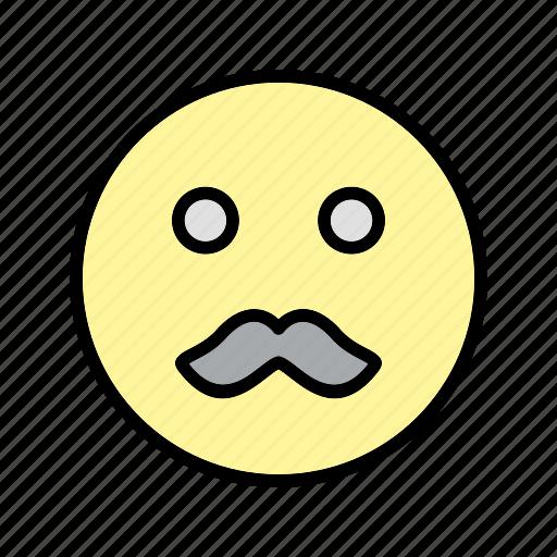 emoticon, moustache, smiley icon