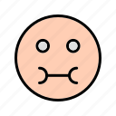 emoticon, sick, smiley icon