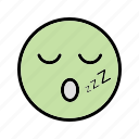 emoticon, face, sleep, smiley icon
