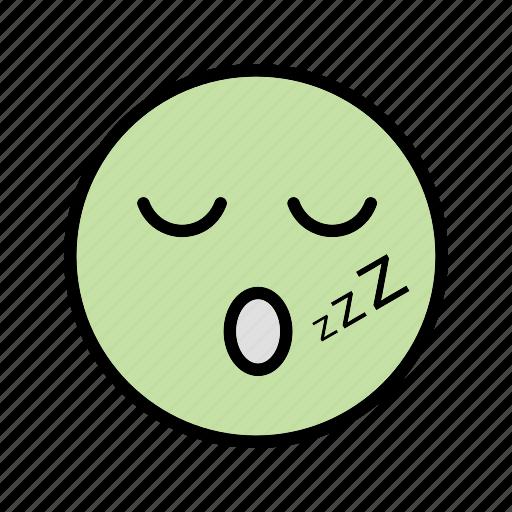 emoticon, sleep, smiley icon