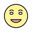 emoticon, laughing, lol, smile icon
