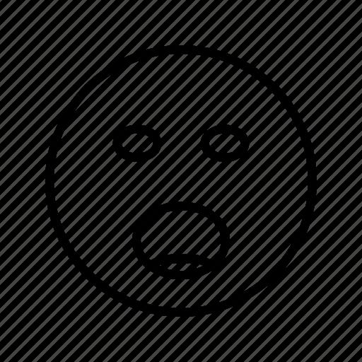 emoji, emoticon, face, shouting icon