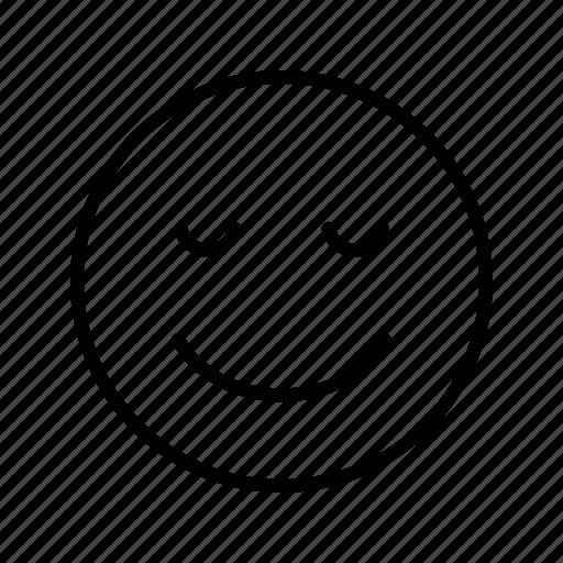 calm, emoji, emoticon, face icon