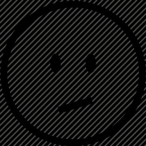 dissapointed, emoticon, emoticons, face, sad, smiley, unhappy icon