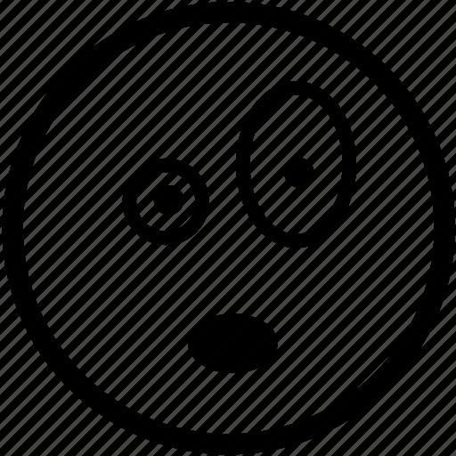 emoticon, emoticons, overwhelmed, person, shock, smiley, surprised icon