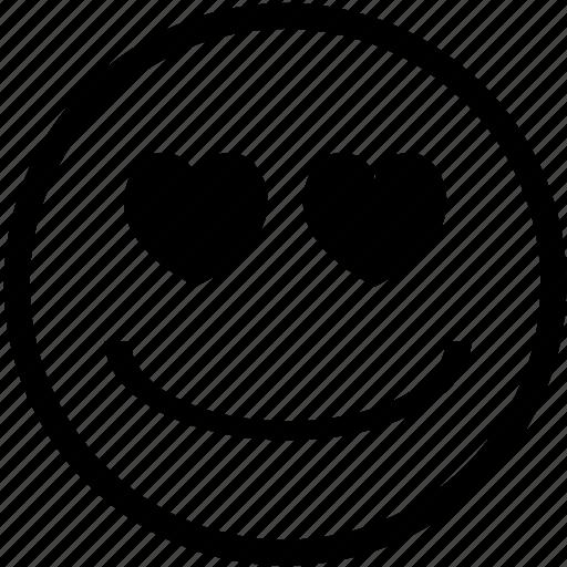 emoticon, emoticons, emotion, hearts, love, smile, smiley icon