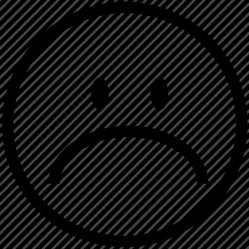 dissapointed, emoticon, emoticons, head, sad, smiley, unhappy icon