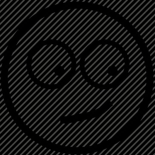 curious, emoticon, face, head, person, smile, smiley icon