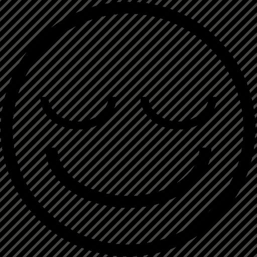 cheerful, emoticon, happy, head, positive, shy, smiley icon