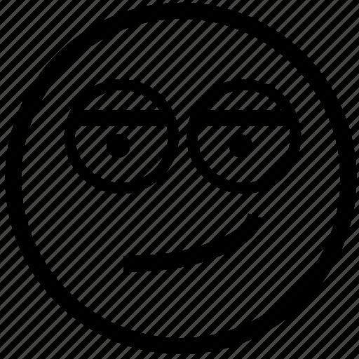 emoticon, emotion, flirty, person, sexy, smile, smiley icon