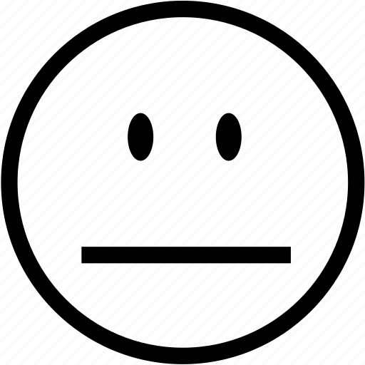 emoticon, emoticons, emotion, emotionless, head, neutral, smiley icon