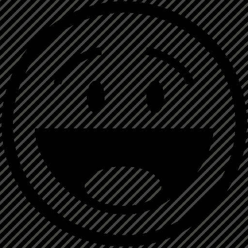 emoticon, happy, laugh, laughing, person, positive, smiley icon