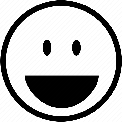 cheerful, emoticon, happiness, happy, laugh, positive, smiley icon