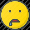 drool, emoji, emote, emoticon, emoticons icon