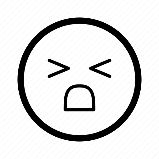 annoyed, emoji, emoticon, emotion, expression, face, smiley icon