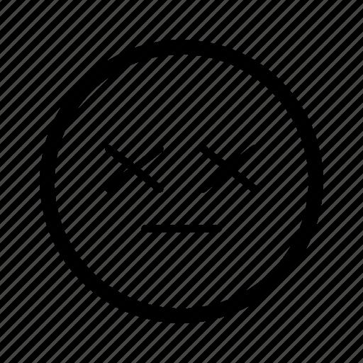 dead, emoji, emoticon, emoticons, expression, face, smiley icon