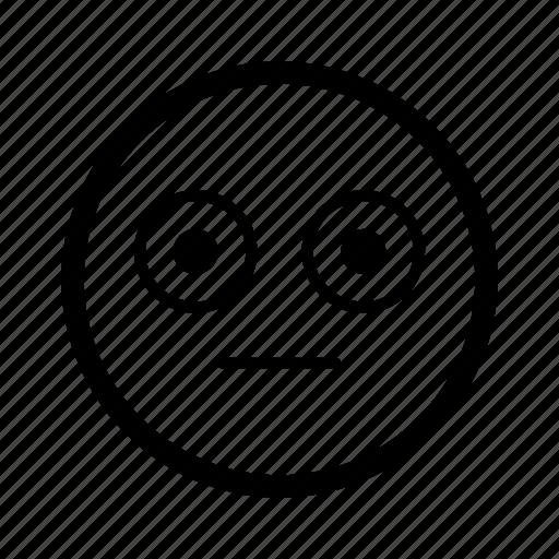 emoji, emoticon, emoticons, emotion, eye, smiley, stare icon