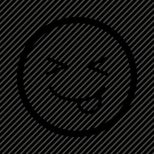 emoticon, excited, happy, love, mood, smiley, tongue icon