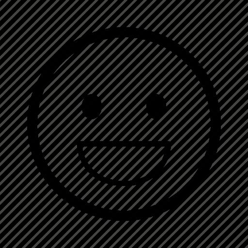 emoticon, emoticons, happy, laugh, mood, smile, smiley icon
