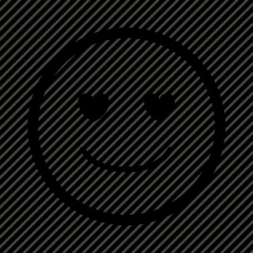 emoticon, happy, heart, like, love, romantic, smiley icon