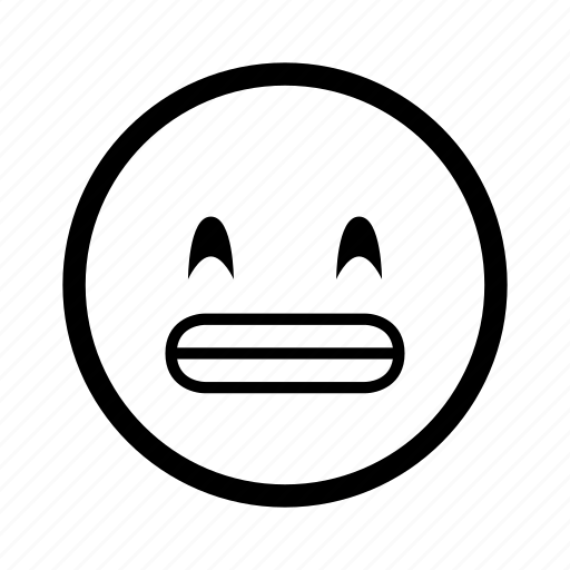 cartoon, emoji, emoticon, expression, peace, smiley, teeth icon