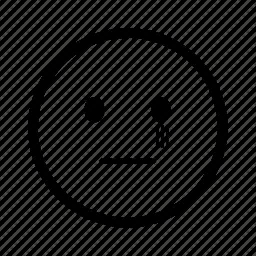 emoji, emoticon, emoticons, expression, scared, smiley, terrified icon