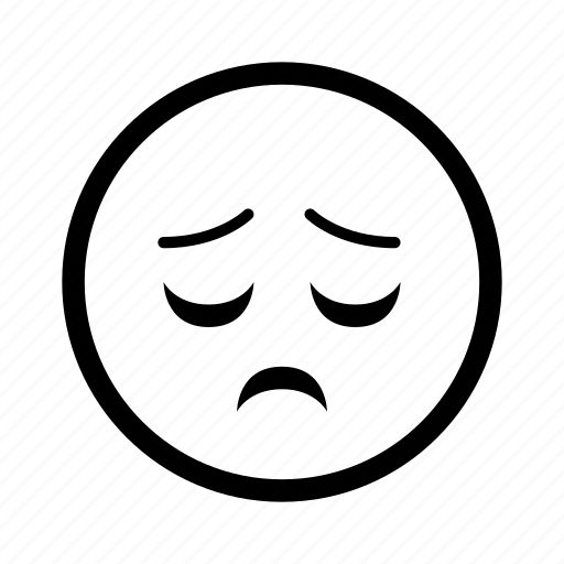 emoticon, emoticons, exhausted, sad, sigh, smiley, tired icon