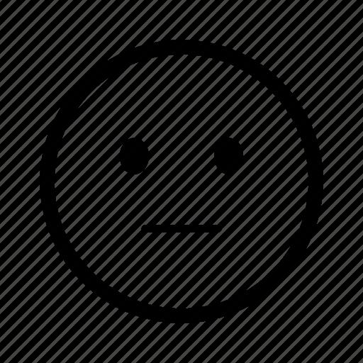 emoji, emoticon, expression, face, mood, smiley, stare icon