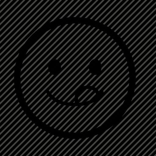 emoji, emoticon, expression, happy, love, smiley, tongue icon
