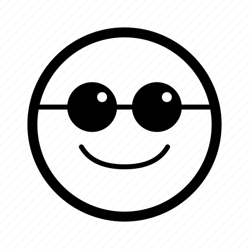 emoticon, emoticons, holiday, holidays, smiley, sunglasses, vacation icon