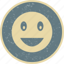 emoticon, face, laughing, smile icon