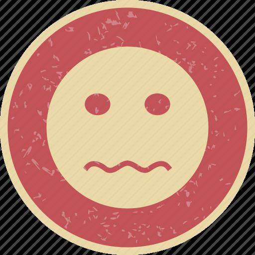 emoticon, nervous, smiley icon