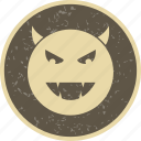 devil, emoticon, face, smiley icon