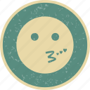 emoticon, face, kiss, smiley icon