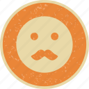emoticon, face, moustache, smiley icon
