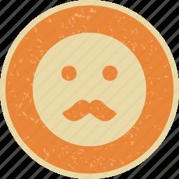 emoticon, face, moustache, smiley icon