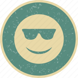 cool, emoticon, face, smiley icon