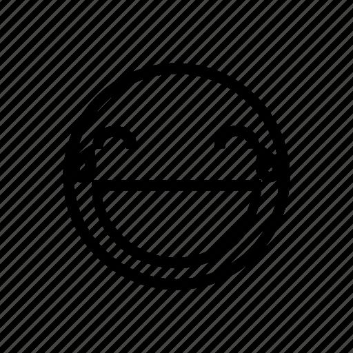 emoji, emoticon, haha, happy, joke, laugh, lol icon
