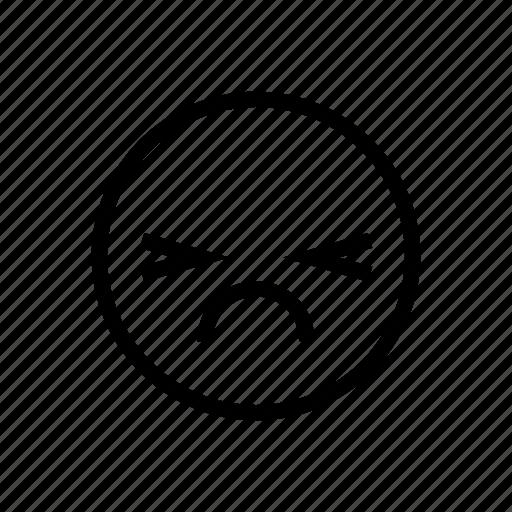 bad, disappointed, emoji, emoticon, emotion, sad, upset icon