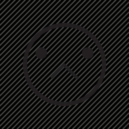 emoji, emoticon, emotion, mood, sad, sadness, upset icon